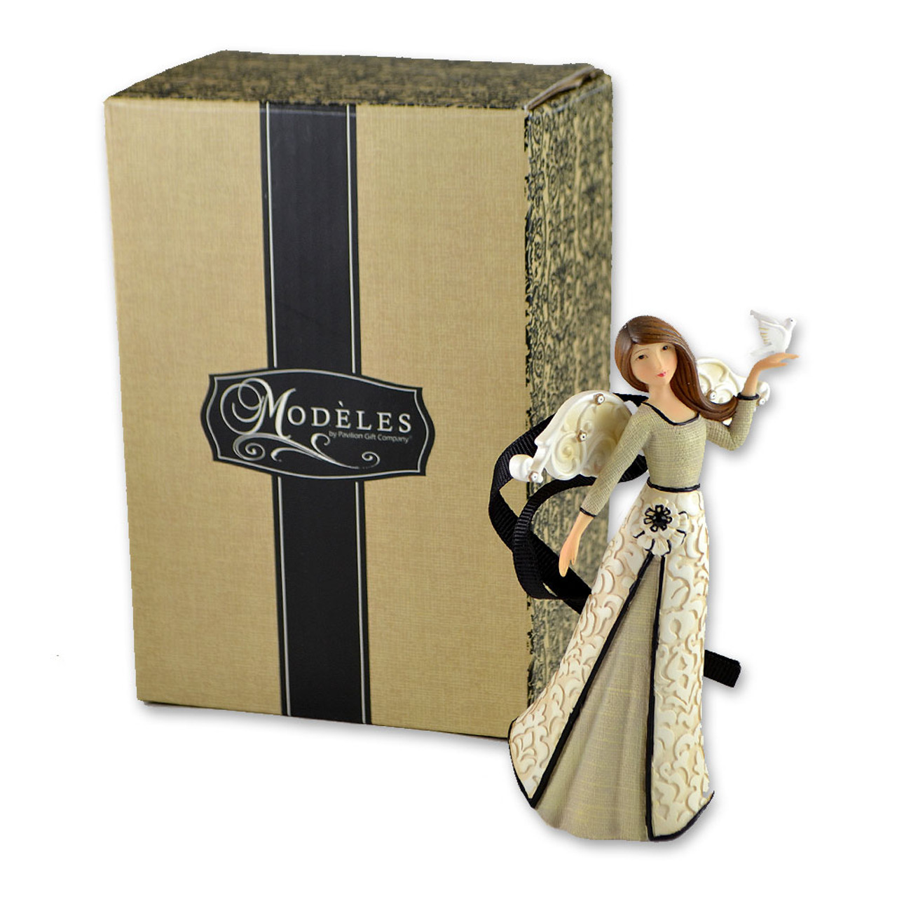 Angel with Dove Peace Ornament 4.5IN
