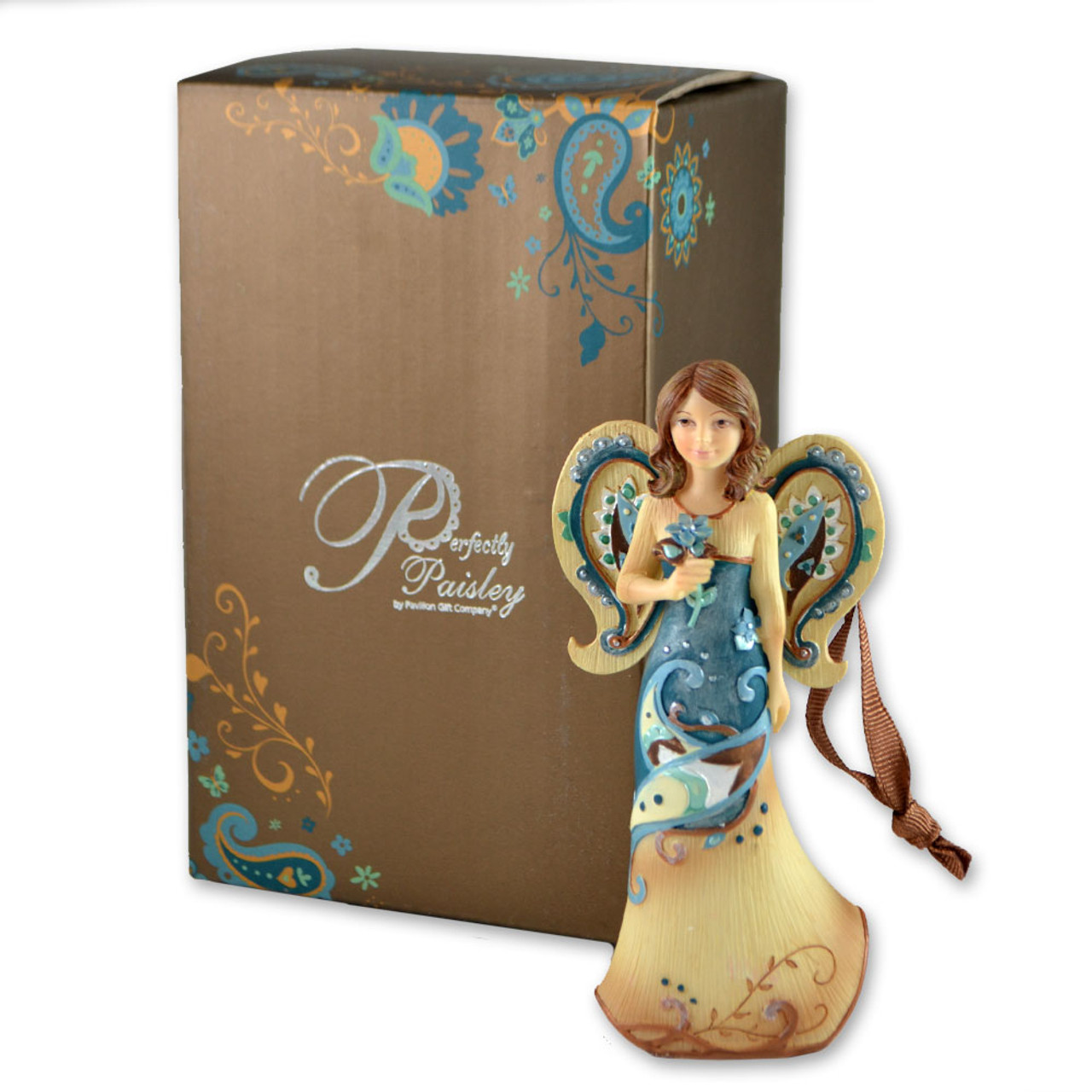 Angel with Flower Cherish Today Ornament 4.5IN