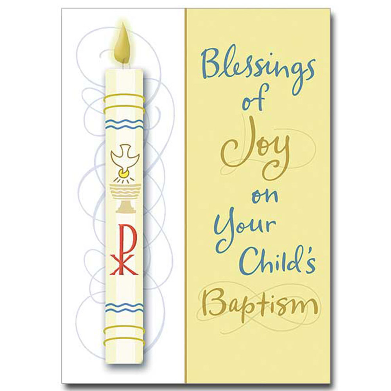 Baptism Card with Candle Image
