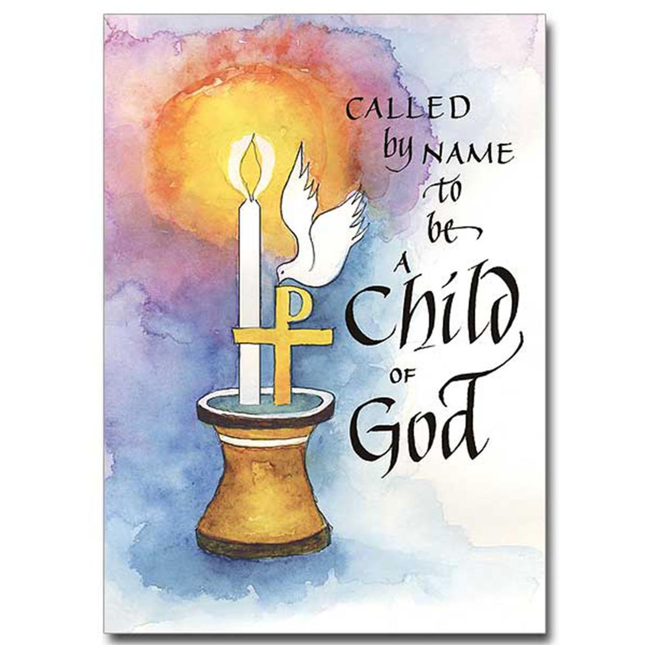 Child of God Baptismal Card