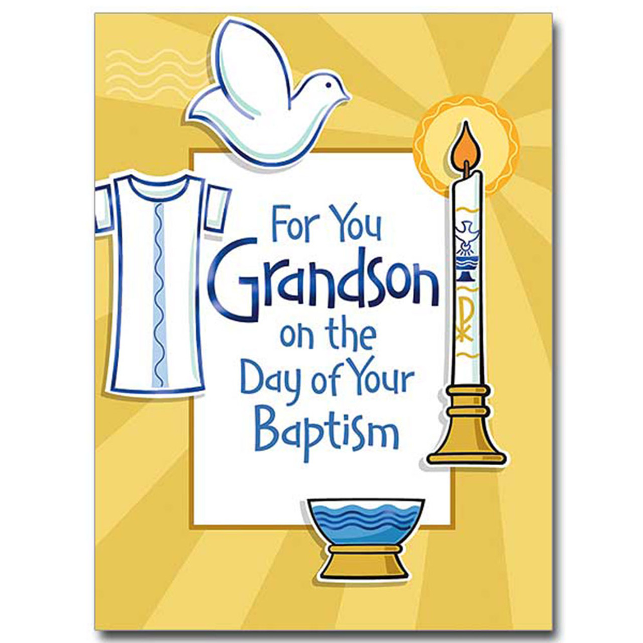 Grandson Baptismal Card