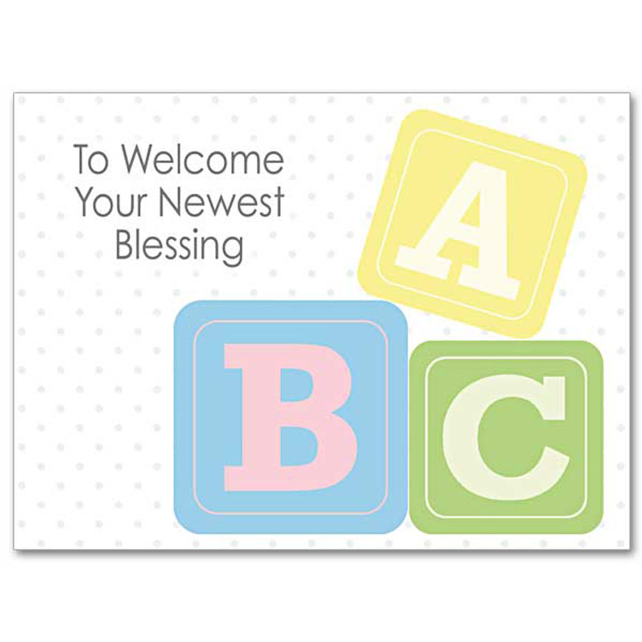 To Welcome Your New Baby Card