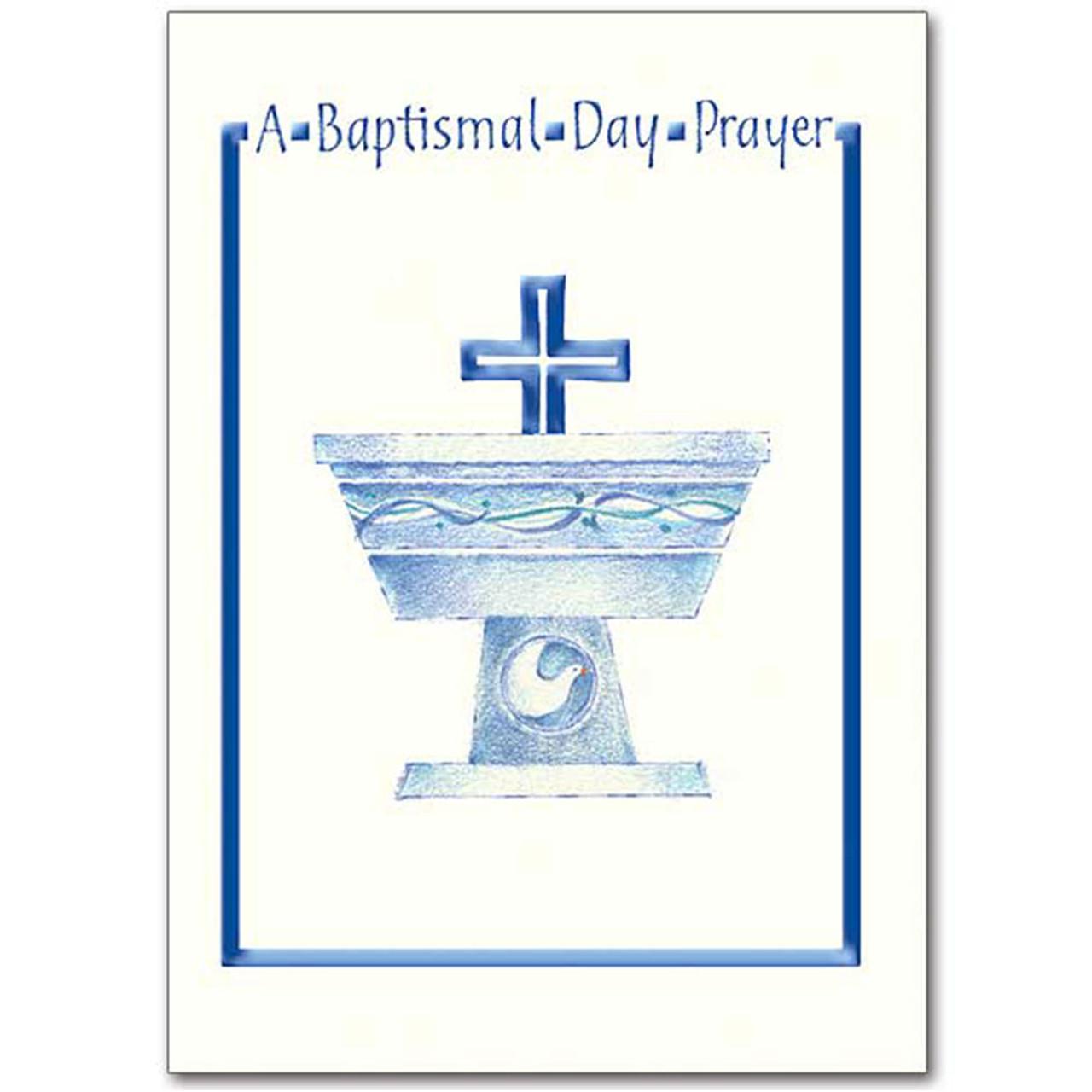 Baptismal Prayer Card