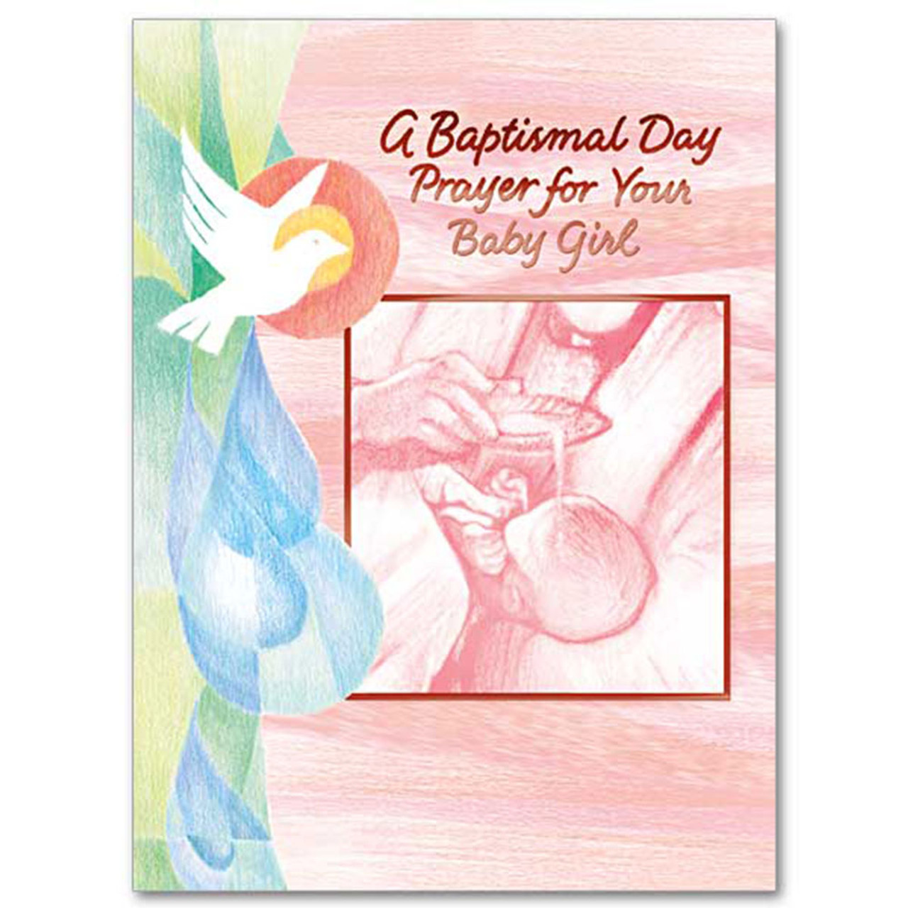Baby Girl Baptism Card