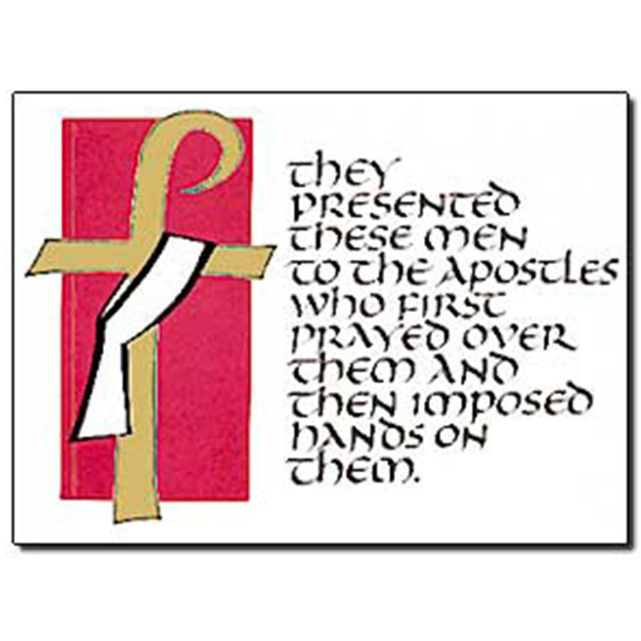 Deacon Ordination Card