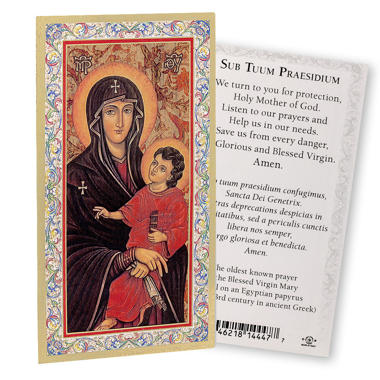 Our Lady of Romanus Holy Card