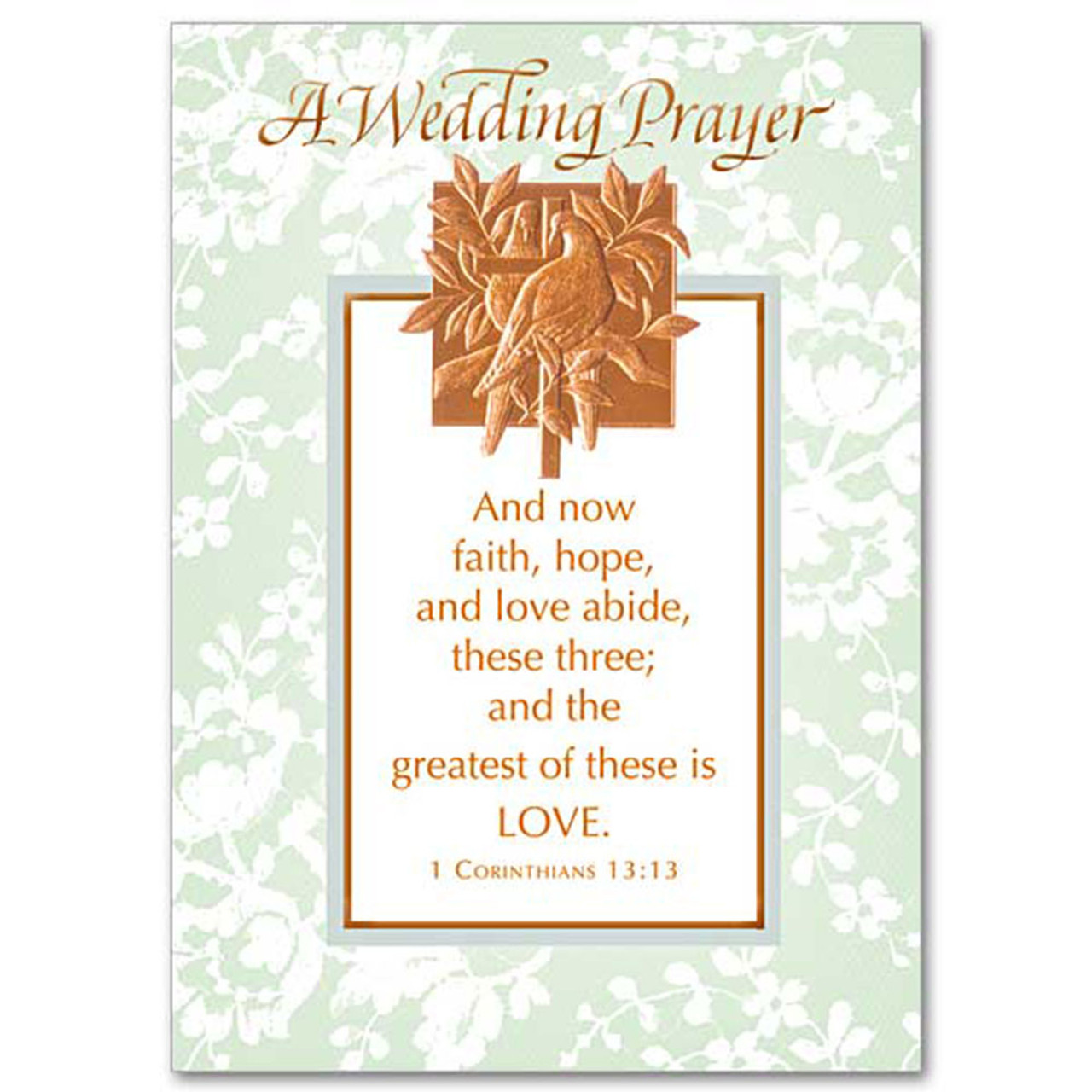 Prayer for Wedding Card