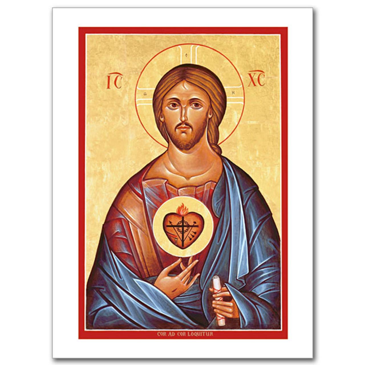 Sacred Heart Icon Card
