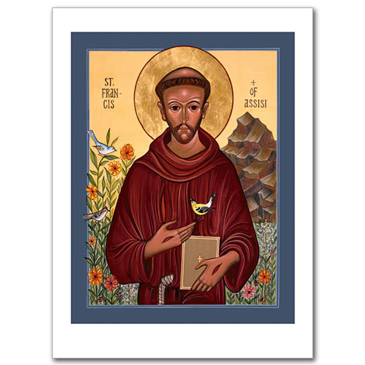 St. Francis of Assisi Icon Card