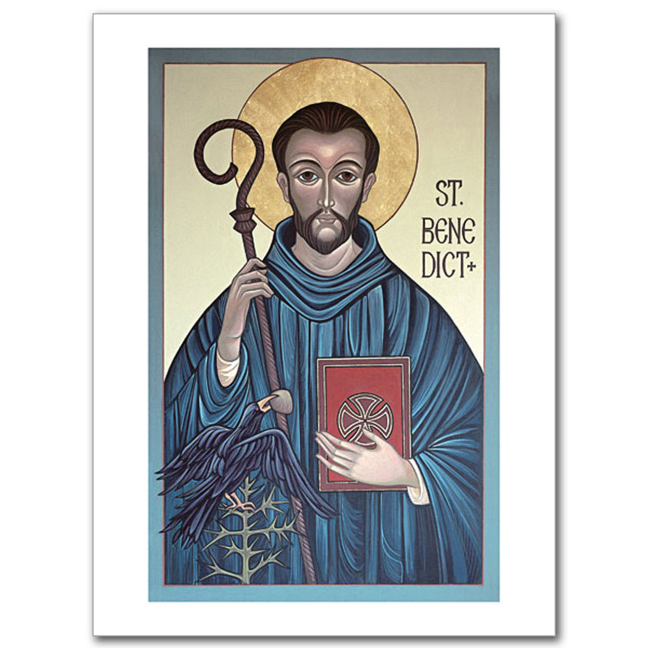St. Benedict Icon Card