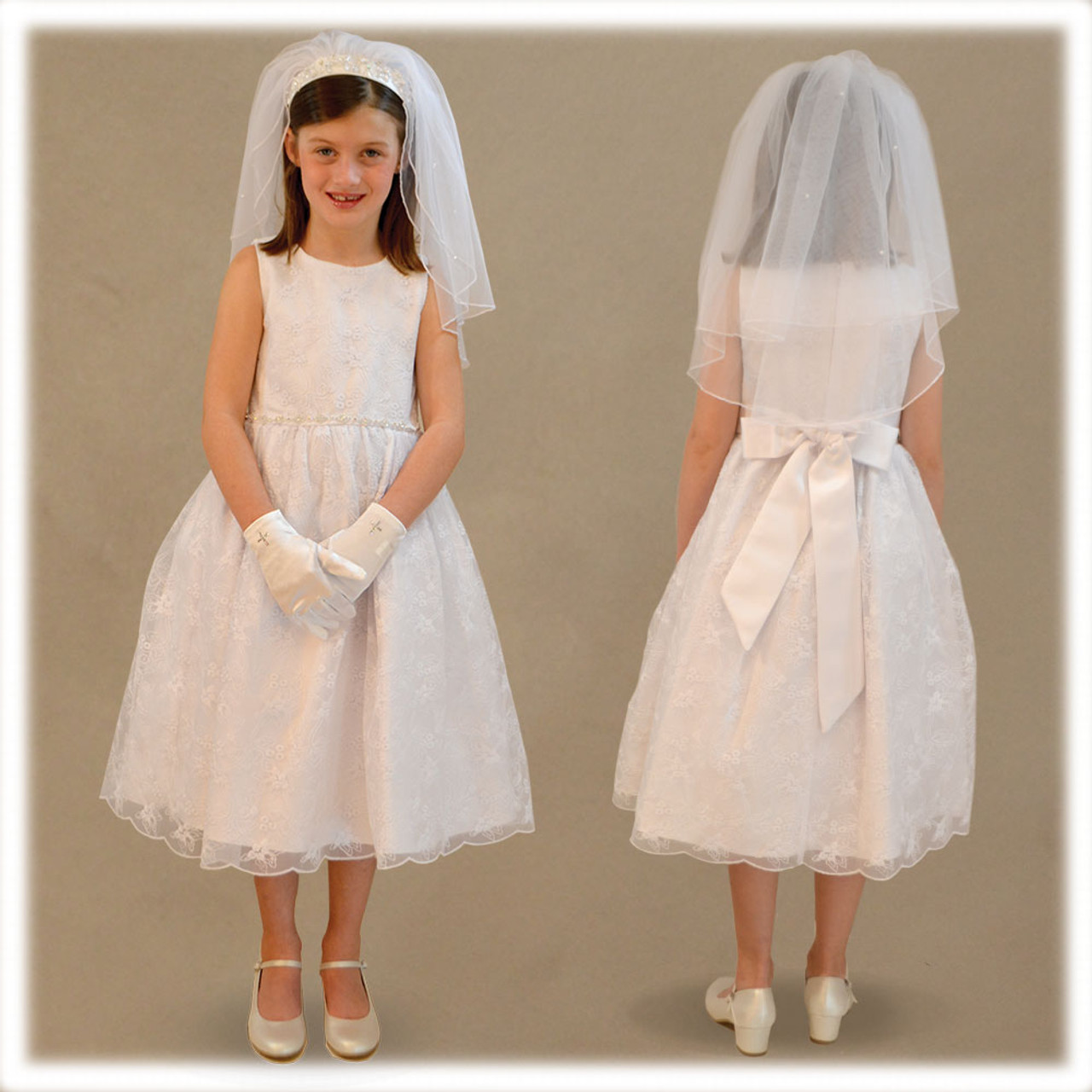 Madelyn, Extended Sizes,  First Communion Dress