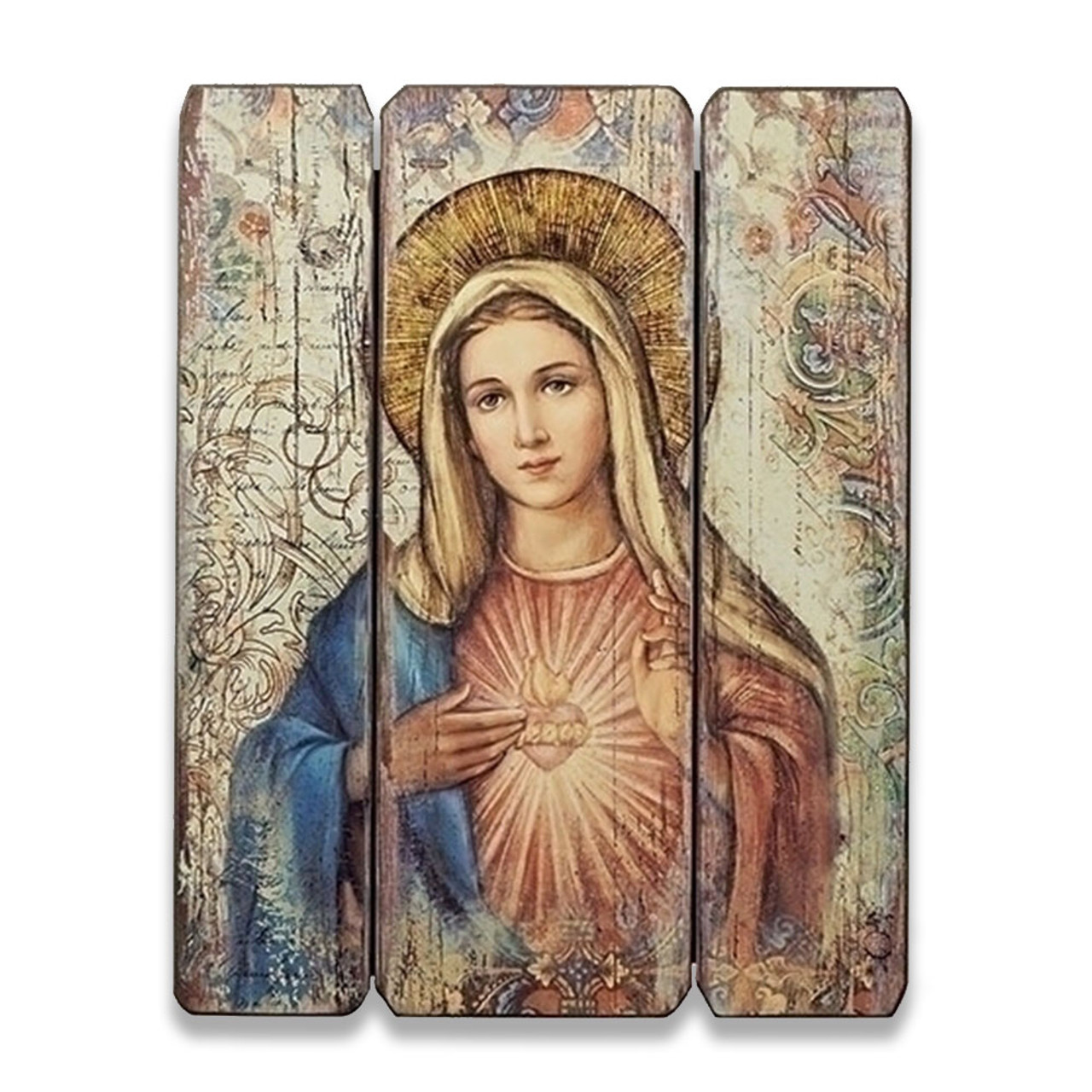 Immaculate Heart of Mary Panel Art 15IN High