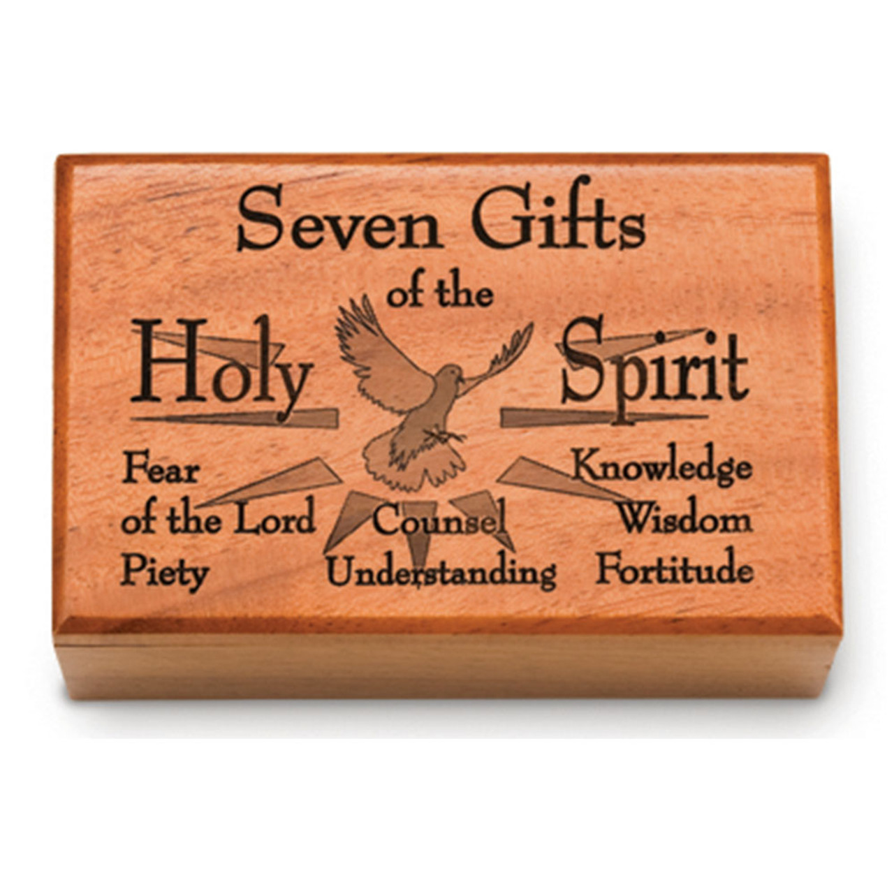 7 Gifts of the Spirit Wooden Box