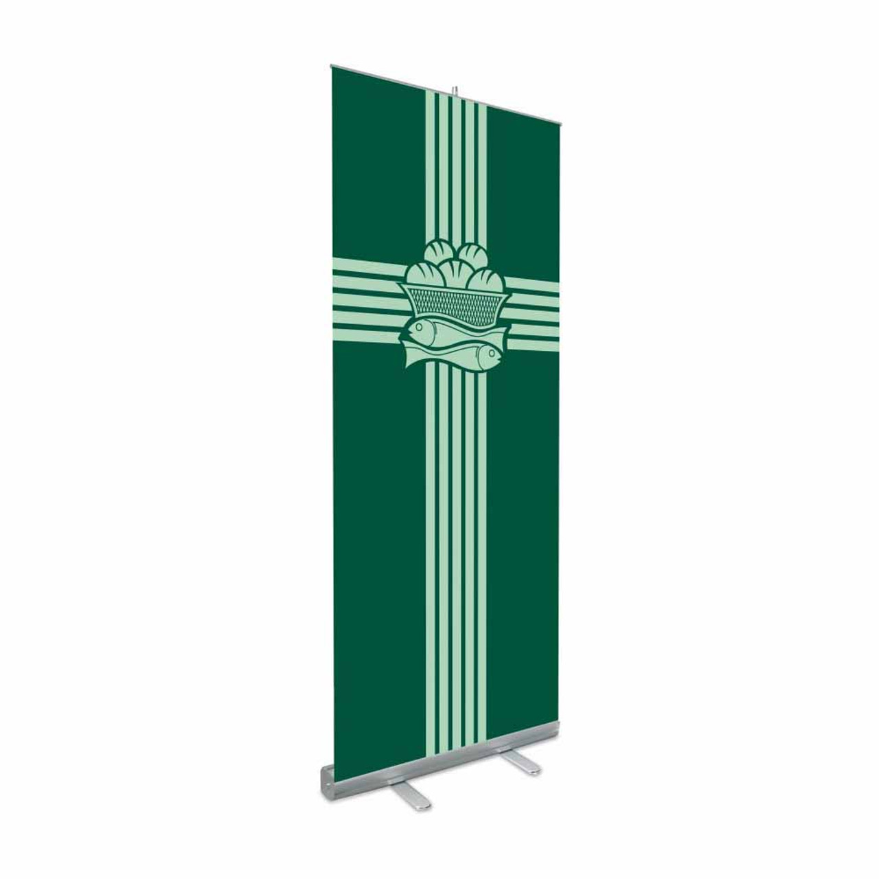 7313 Green Eucharistic Roll-up Banner