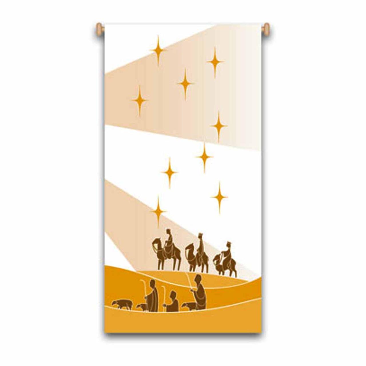 "7729 Three Kings Banner 24"" x 48"""