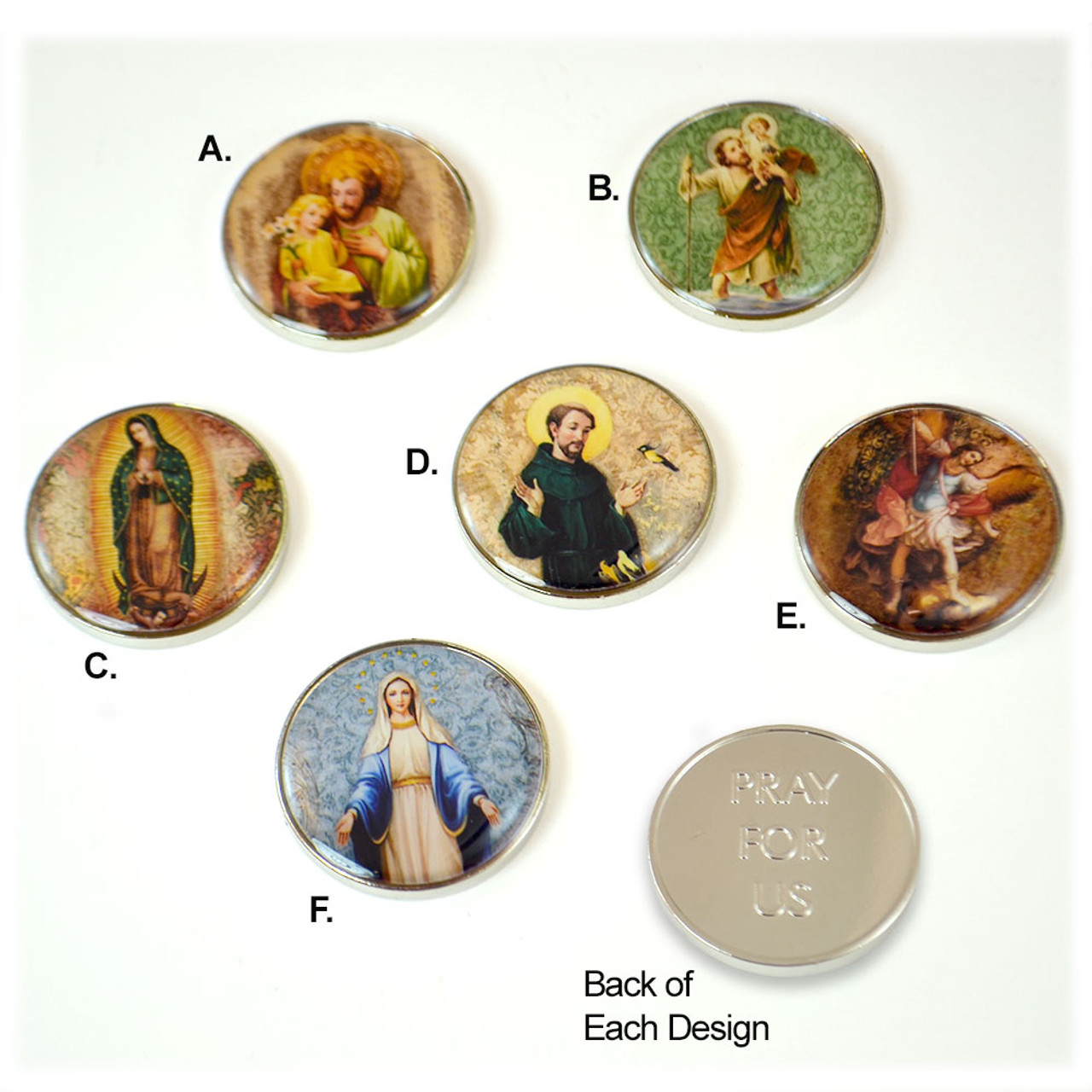 Saint Pocket Tokens in Color Sold Separately