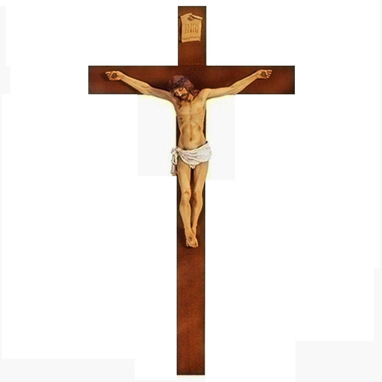 Fontanini Woodtone Crucifix 40IN