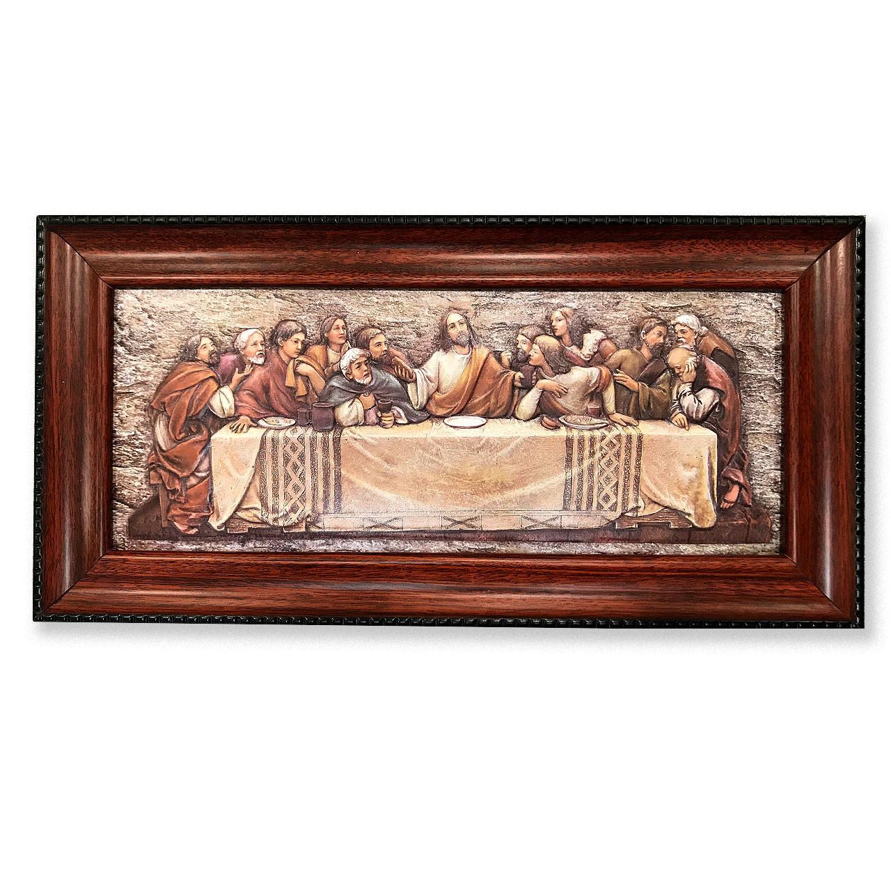 Last Supper Plaque 7x14-3.8IN