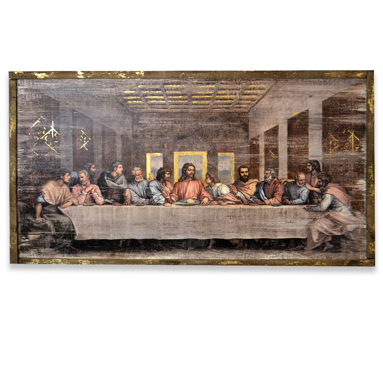 Last Supper Panel Art 21IN High