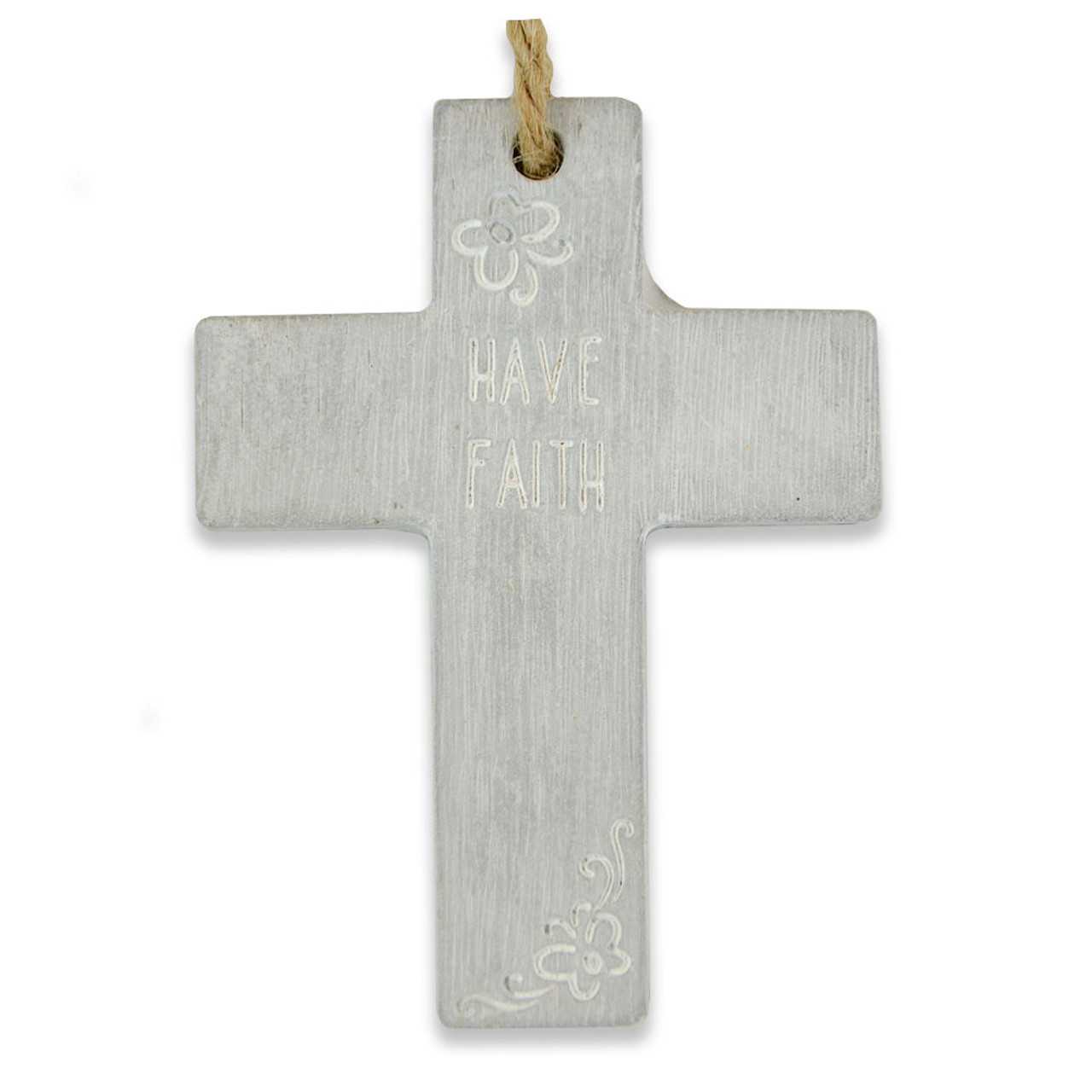 """""""Have Faith"""" Hanging Wall Cross"""
