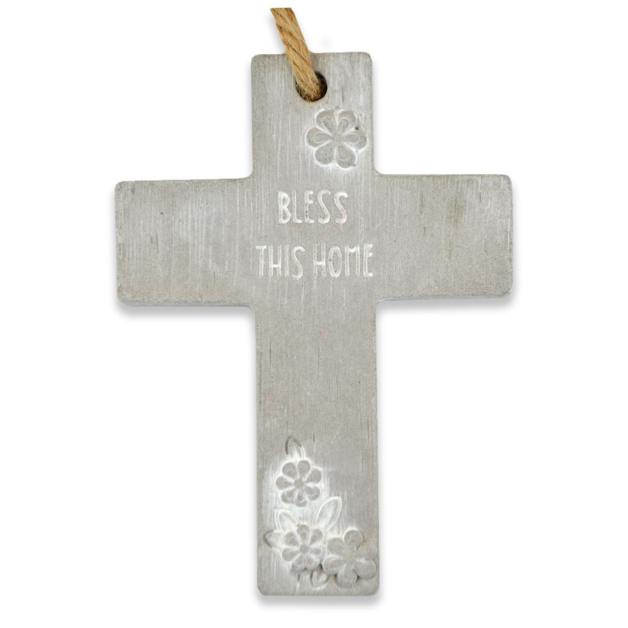 """Bless This Home"" Hanging Cross"