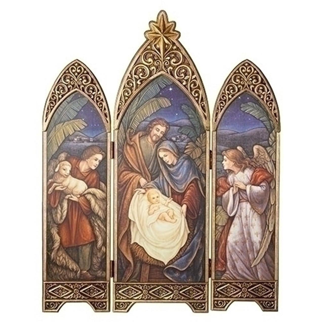 Nativity Triptych 36.25IN