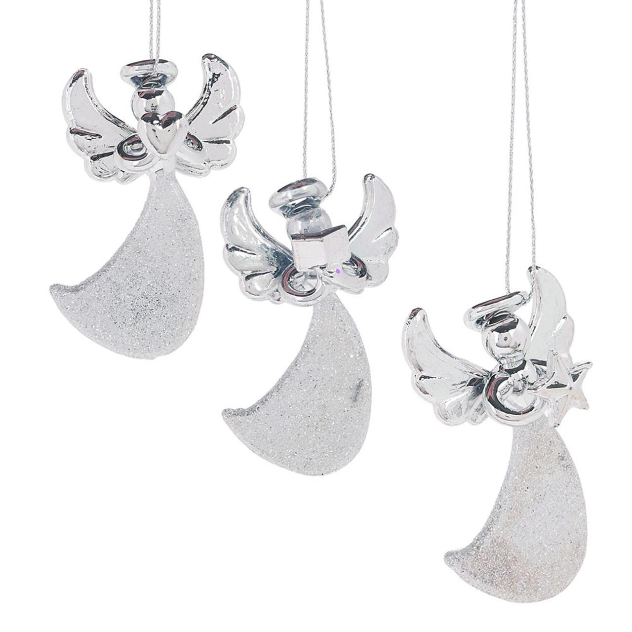 Glass Angel Ornaments 3 Asst