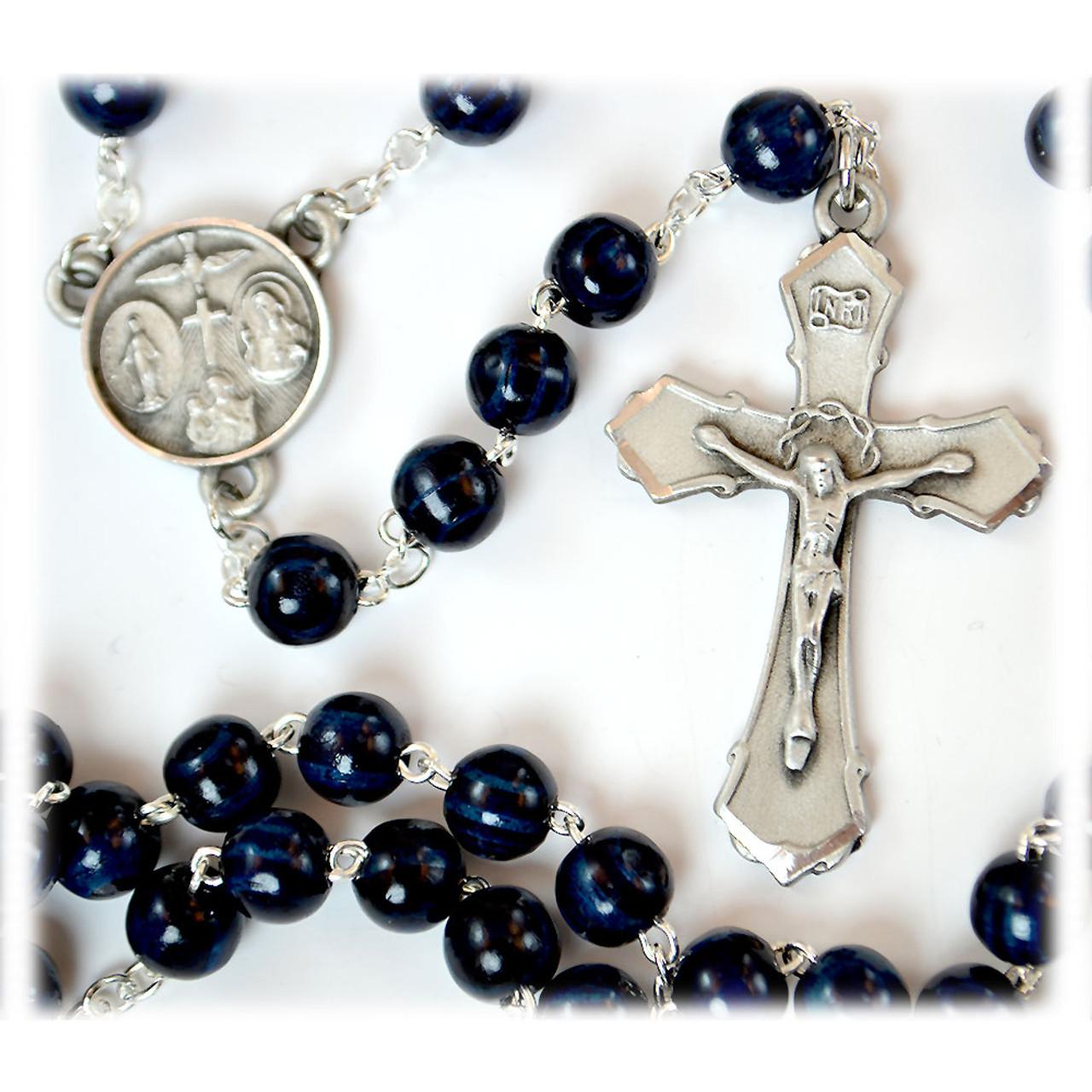Blue Wood Rosary
