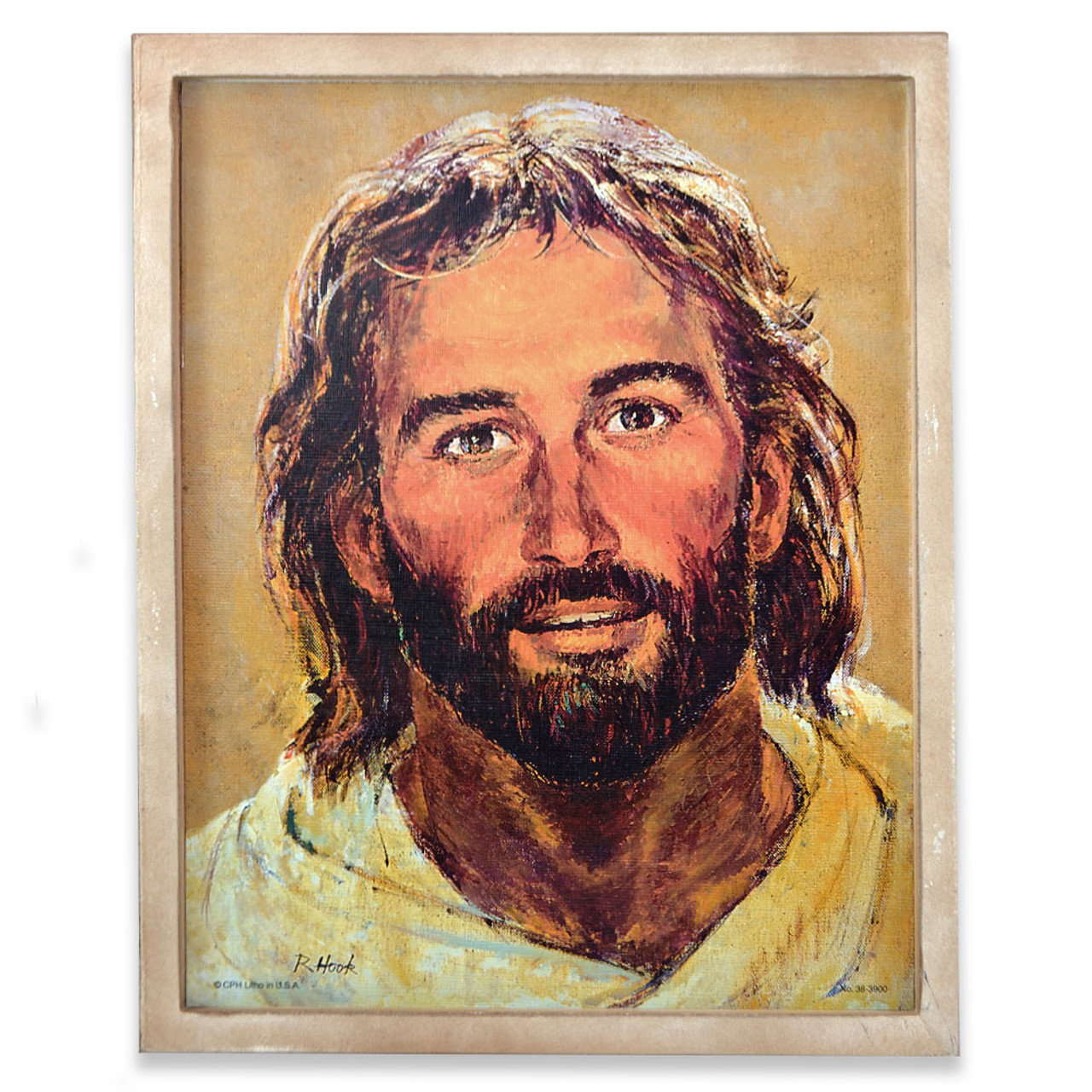 "Framed ""Head of Christ"" Picture"