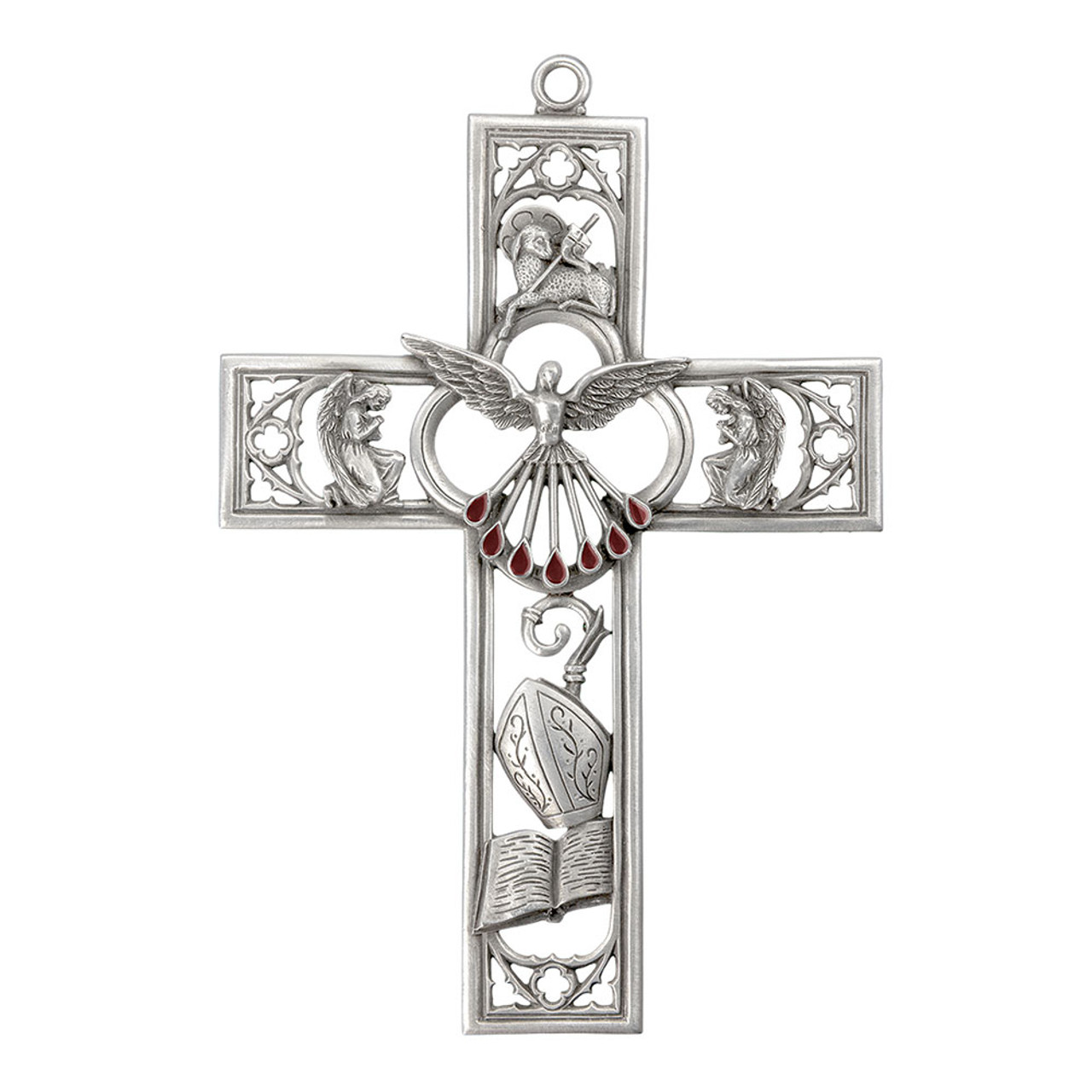 Confirmation Pewter Cross 6IN