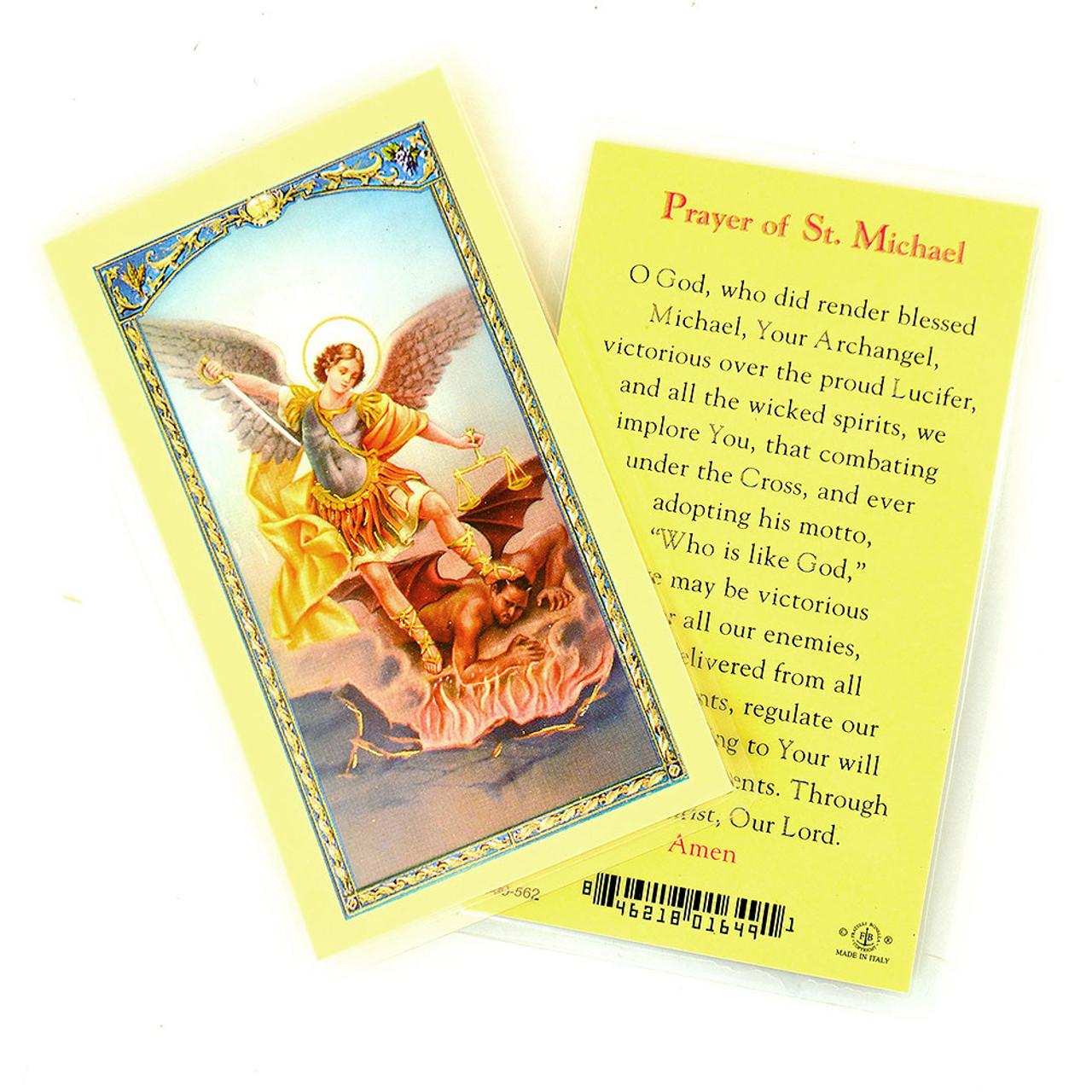 """Prayer of St. Michael"" Laminated Holy Card"