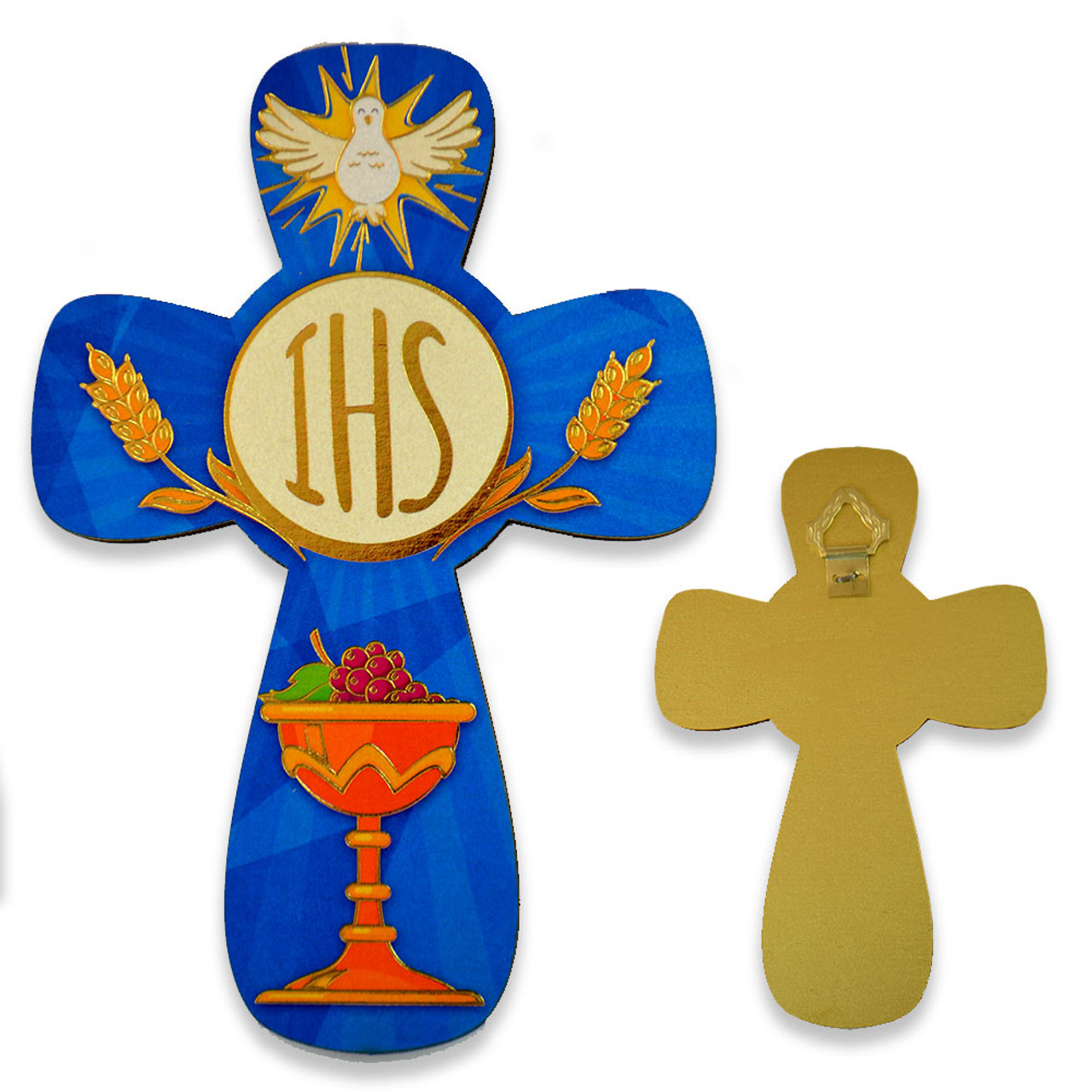 First Communion Blue Cross with Chalice