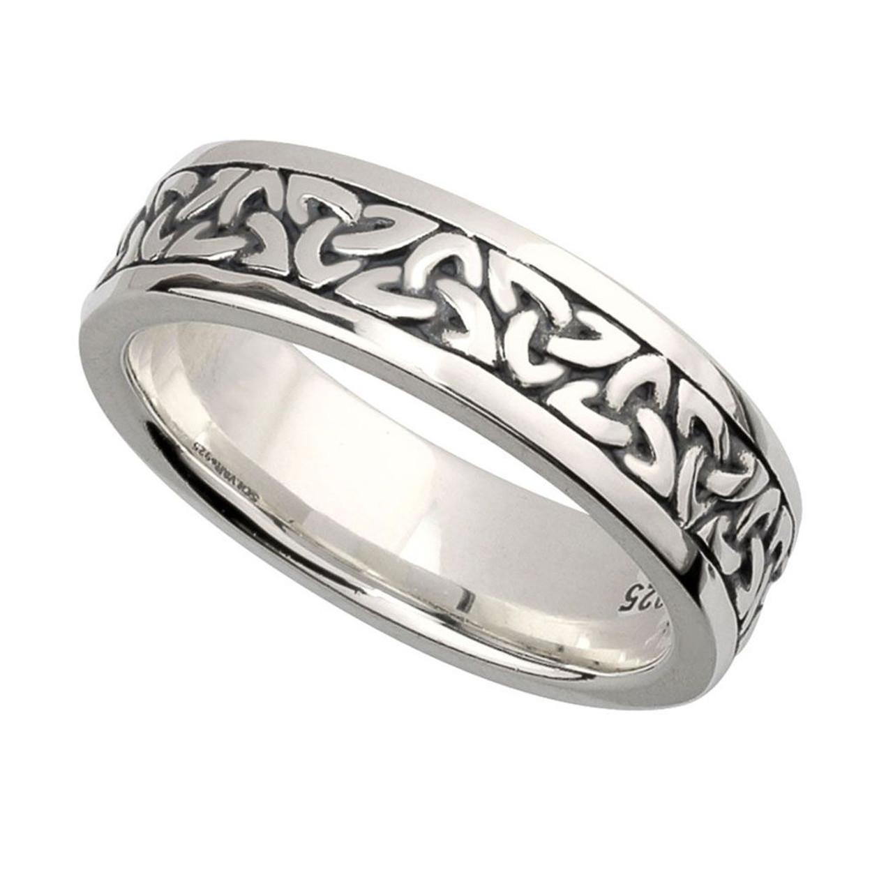Women's Irish Trinity Knot Band Sterling