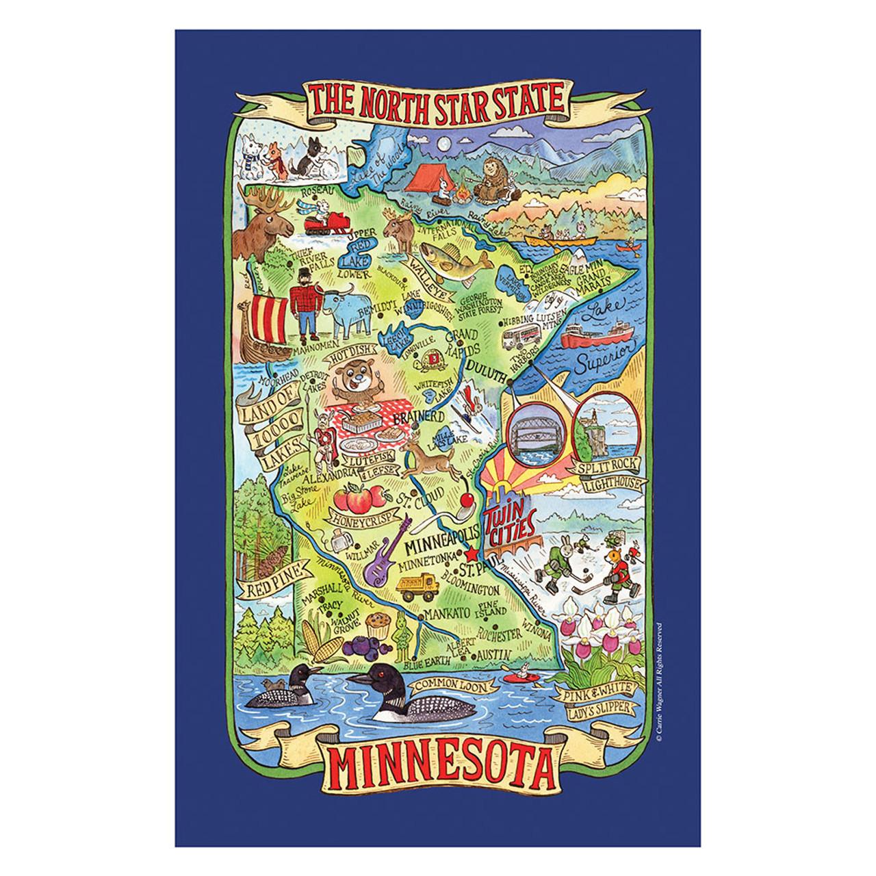 Minnesota Adventure Destination Tea Towel