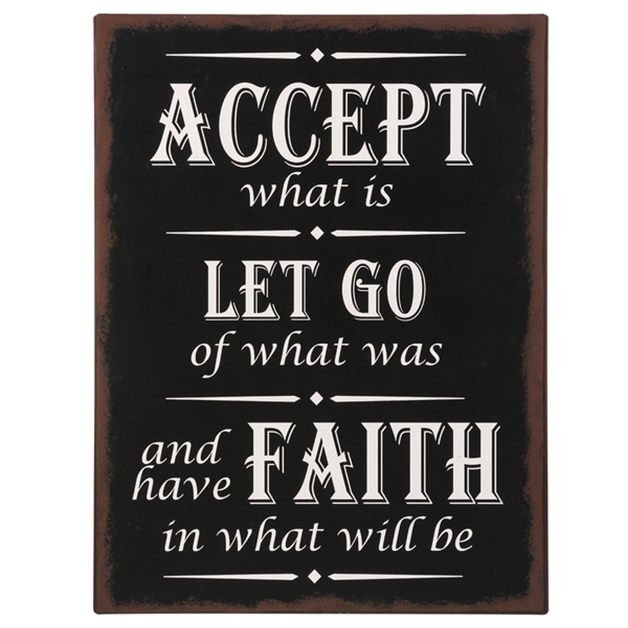 Accept What is Plaque
