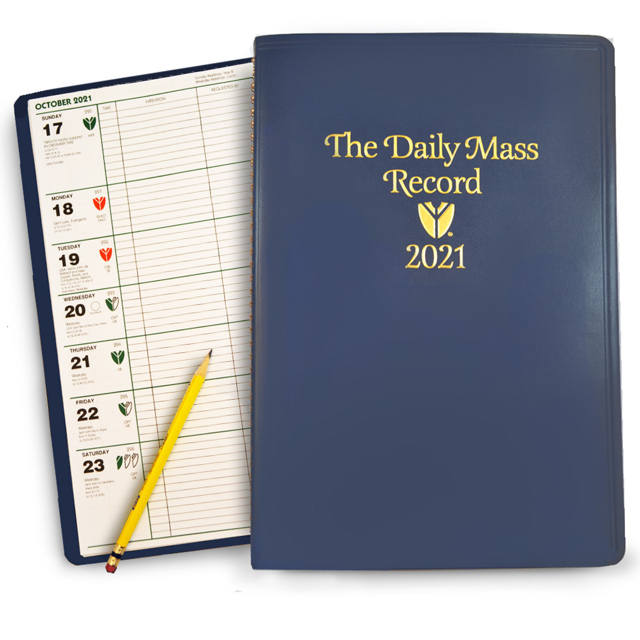 Daily Mass Record Book 2021