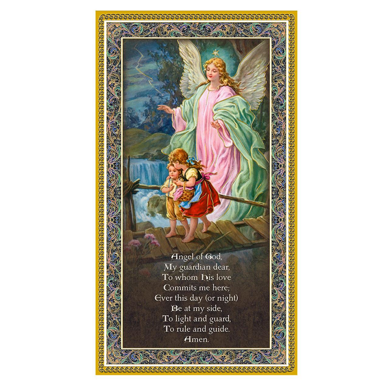 Guardian Angel Plaque 5x9IN