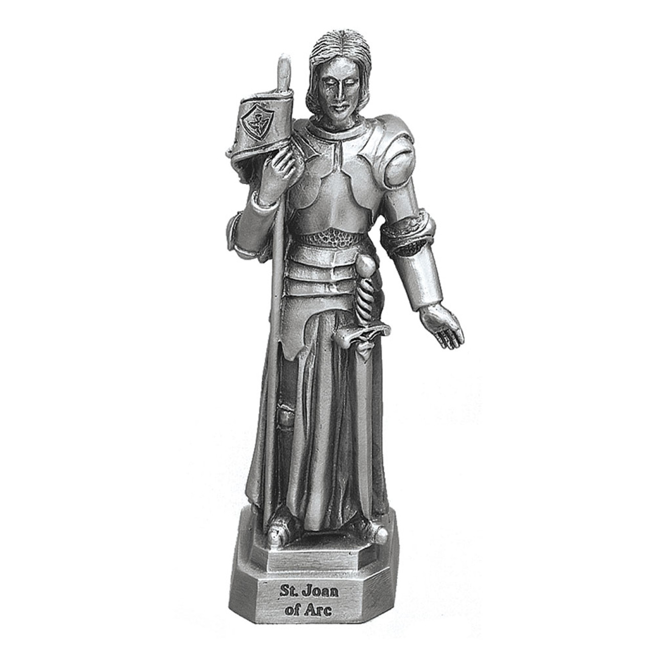 Joan of Arc Pewter Statue 3.5IN