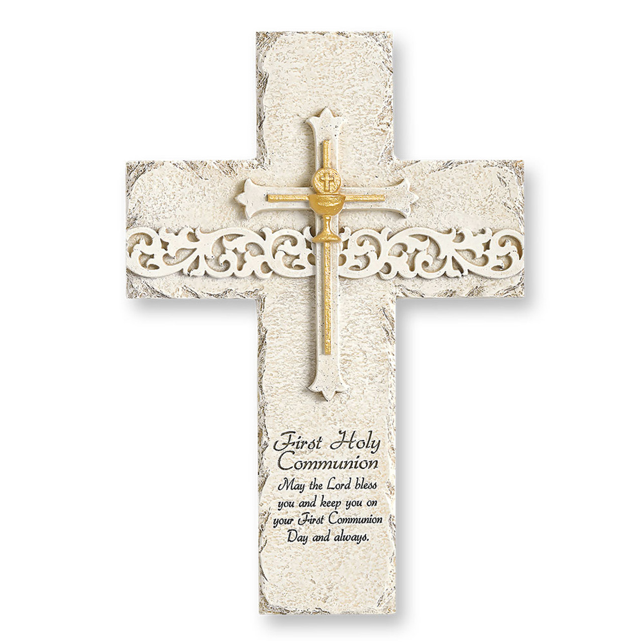 First Communion Stone-look Wall Cross