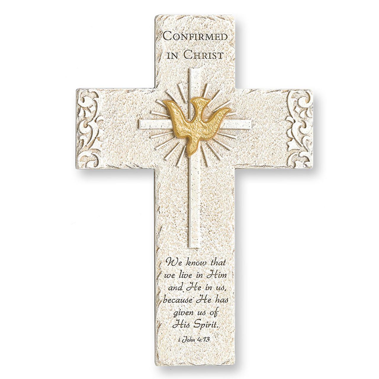 Confirmation Wall Cross Stone-look
