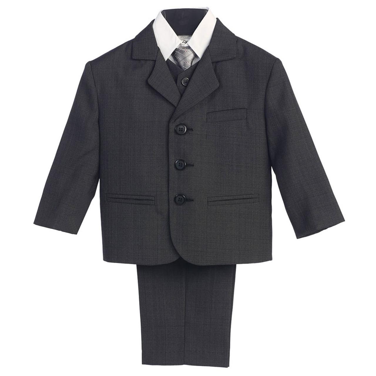 5-Piece Dark Grey Boy's Suit