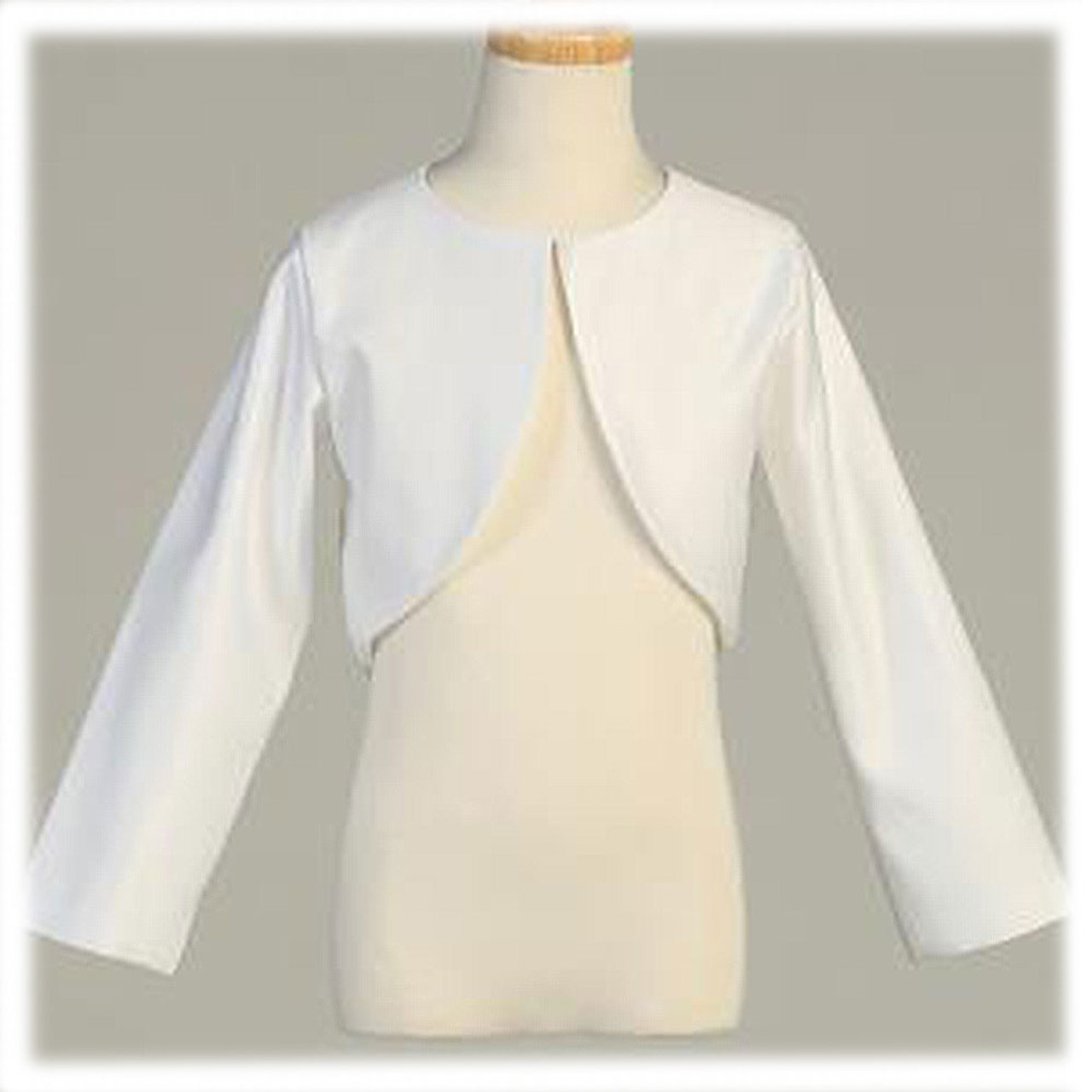 First Communion Bolero with Long Sleeves