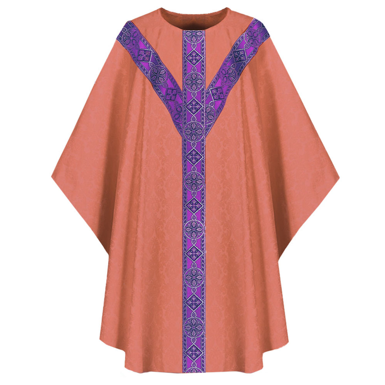 3035 Rose Chasuble in Dupion