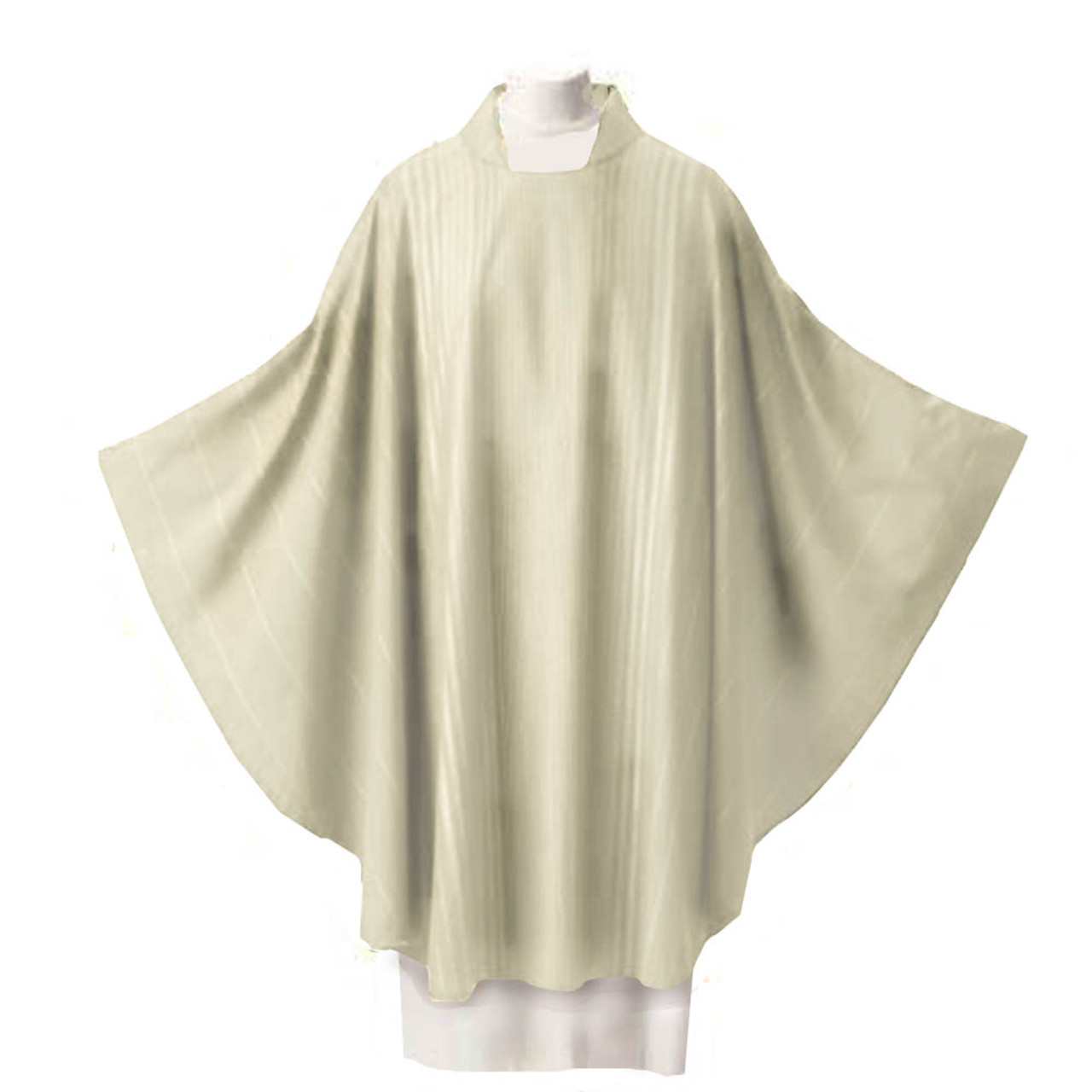 Beige Chasuble in Rayada Fabric