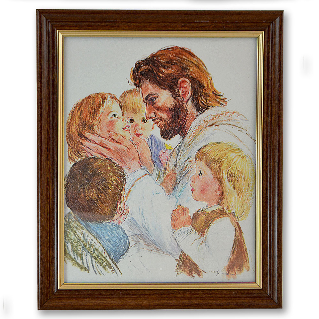 Christ with Children Picture Framed