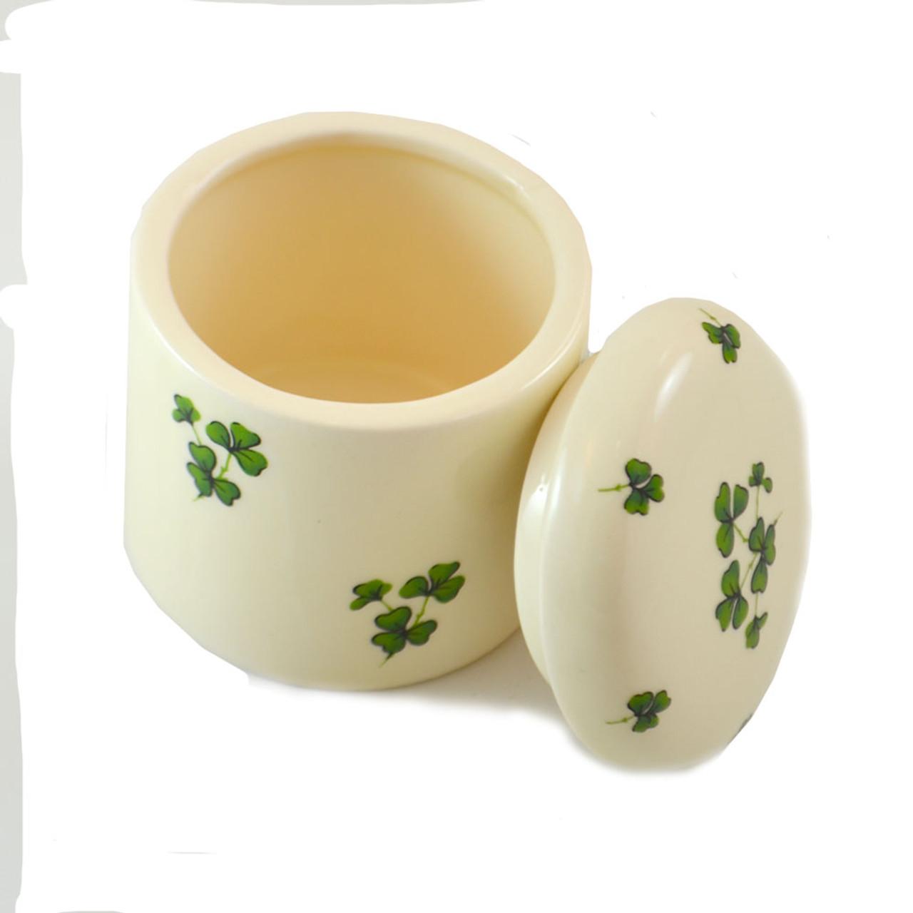Shamrock Porcelain Trinket Box