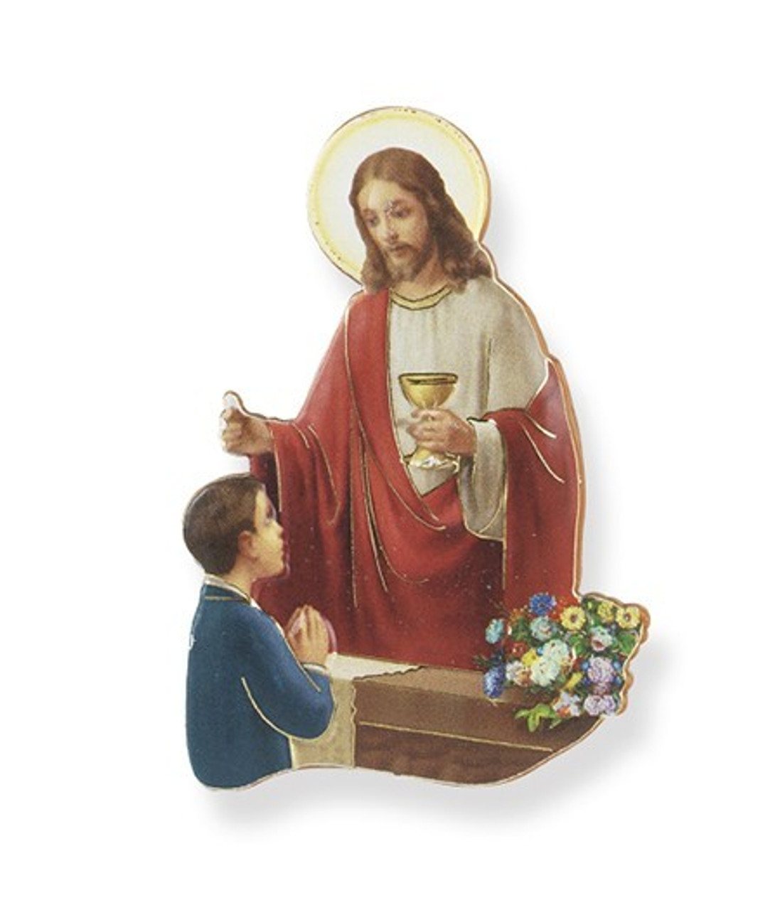 Communion Boy Magnet w/Stand 3IN