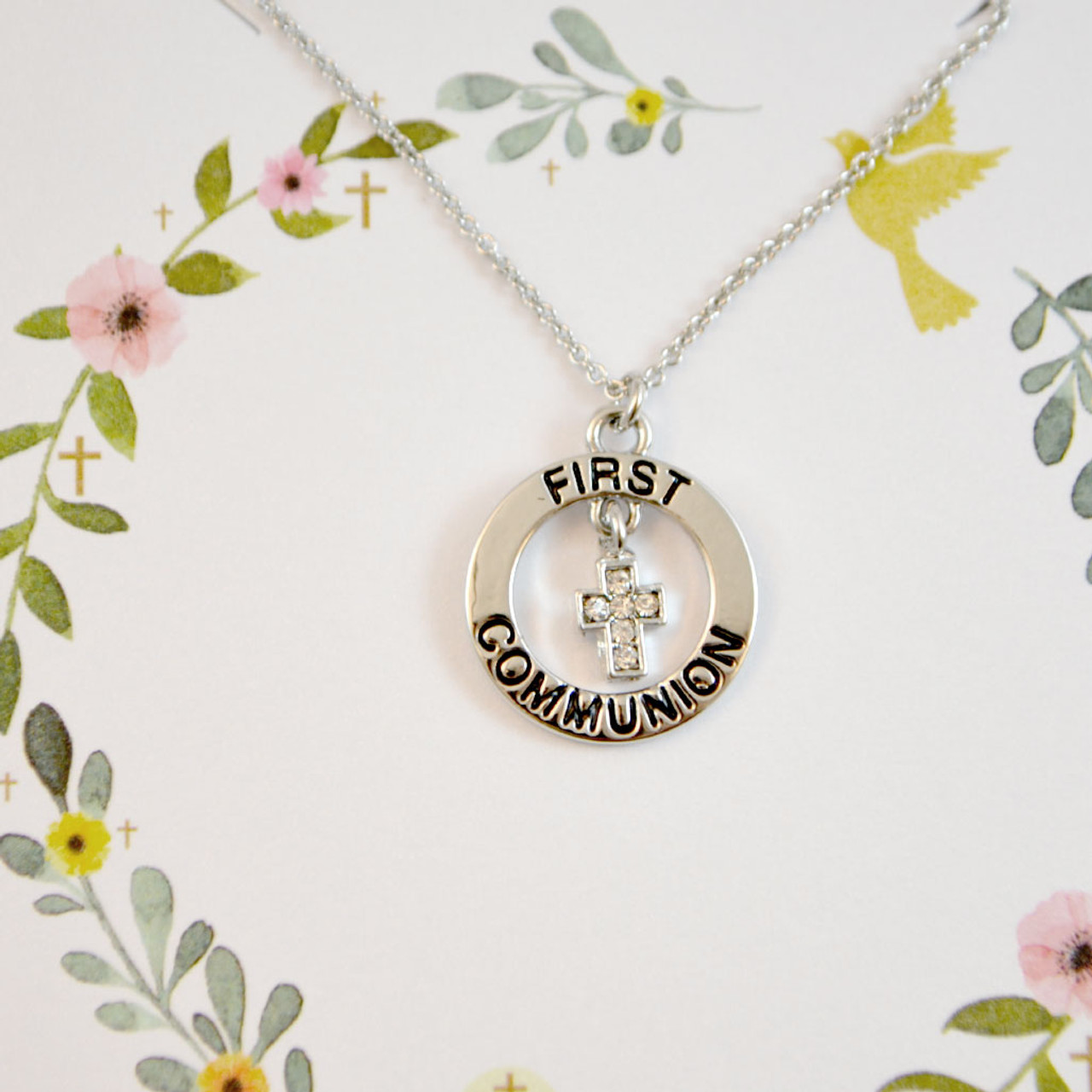 First Communion Necklace 2 Asst