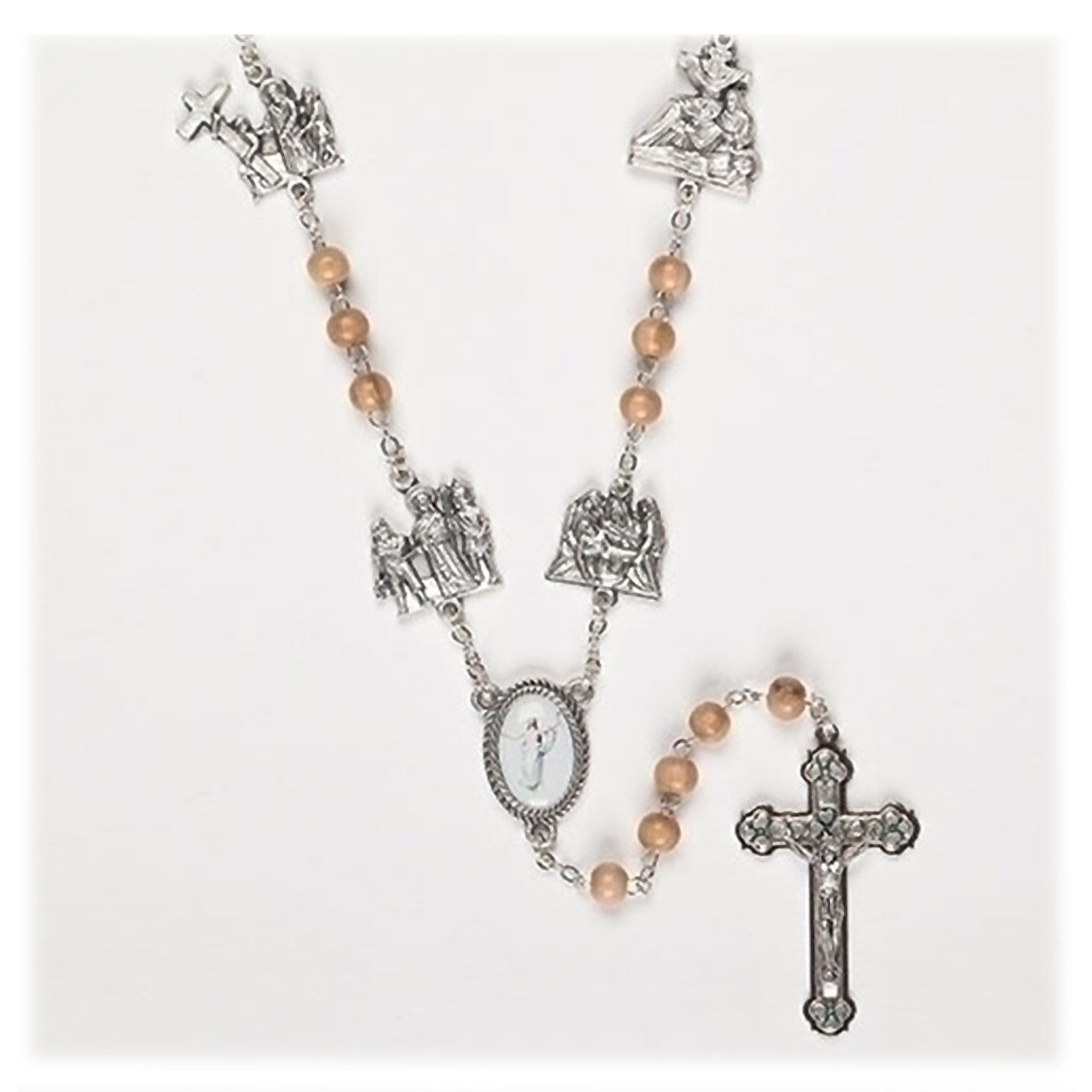 Lenten Journey Wood Rosary