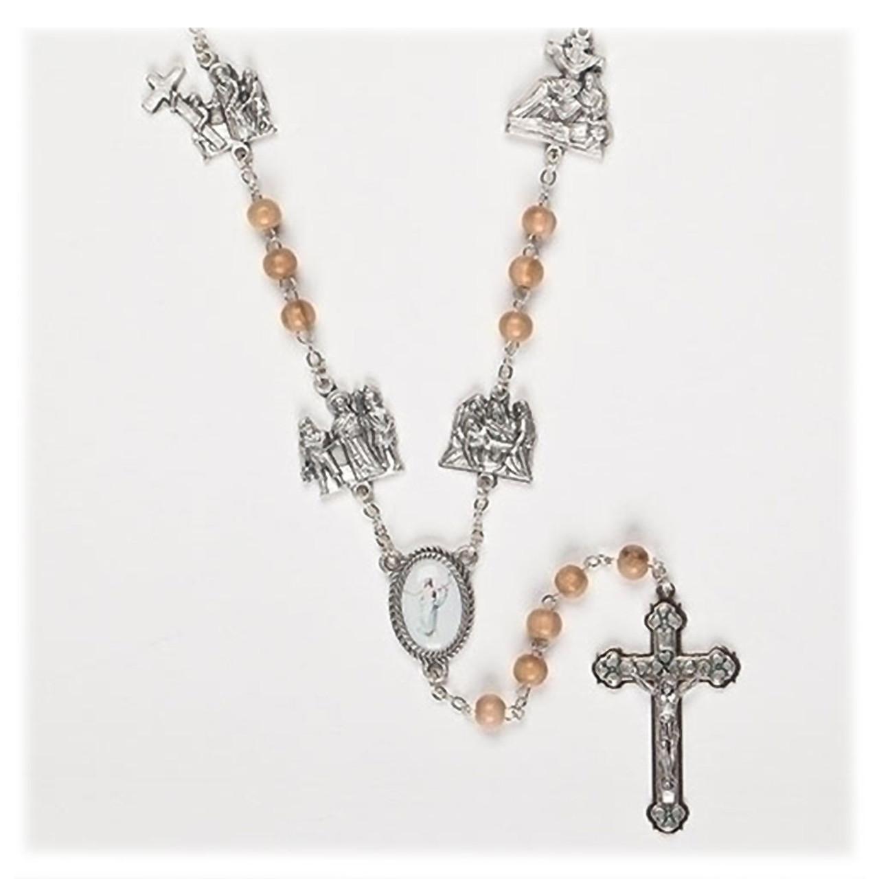 Lenten Journey Wood Rosary